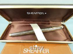 Vintage Sheaffer Imperial Sovereign Diamond Cut Fountain Pen, M 14K Nib, Box MINT