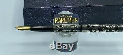 Vintage WATERMAN 418 Fountain Pen Sterling Silver Overlay Boxed #8 Flex Nib