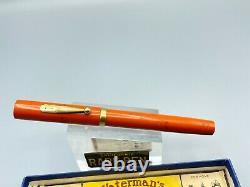 Vintage WATERMAN 55 CARDINAL RHR Fountain Pen #5 Flexible Nib Restored Boxed