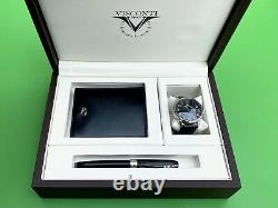 Visconti Firenze Italy Pen, Watch & Wallet Collectors Box Set New With Tags