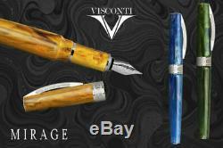 Visconti Mirage Fountain Pen Aqua (sky Blue) Color New In Box Kp09-06-fp
