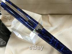 Visconti Opera blue swirl fountain pen 14K nib + box + ink