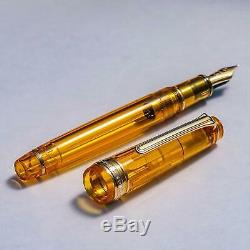 WANCHER x SAILOR Professional Gear AMBER Fountain Pen 14K Clear Limited withBox