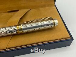 WATERMAN MAN 100 Full STERLING SILVER Fountain Pen 18K Fine nib Boxed