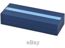 Waterman Carene Blue Body ST Ballpoint Pen Medium Nib Gift Box Free Shipping New