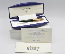 Waterman Edson''Emerald Green'' fountain pen New Old Stock in box