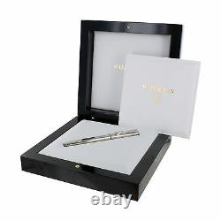 Waterman Exception Fountain Pen Sterling Silver 18K Gold Fine Pt New In Box