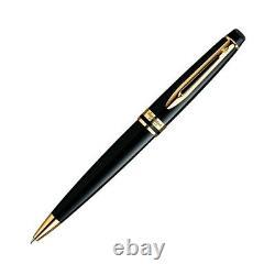 Waterman Expert Ballpoint Pen Black Gold Trim S0951700 New in Gift Box