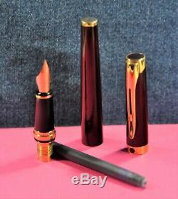 Waterman L'Etalon Burgundy Lacquer> 18K EF nib Fountain pen withOrig. Box