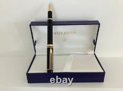 Waterman Le Man 100 Black Fountain Pen 18K Gold Fine Pt Ideal Globe New In Box