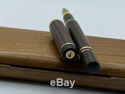 Waterman MAN 100 WOOD Fountain Pen 18K Broad nib Minty in wood box
