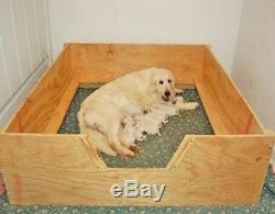 Whelping Box HEAVY DUTY Large 48x48 withRAILS+LINER Dog, Puppy, Pen, FreeS&H