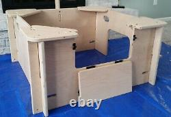 Whelping Box, Weaning Box, Small, 3' x 3', Dog, Puppy Pen, QuickWhelp