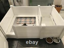 Whelping Box with weaning pen 36x 54 withPiggy Rails entry door rubber floor
