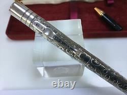 Yard O Led Viceroy sterling silver victorian fountain pen 18K nib + box