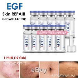 10x Egf Oligopeptide-1 Sérum Indented Dénoyautées Scar Rides Derma Pen Stamp Rouleau