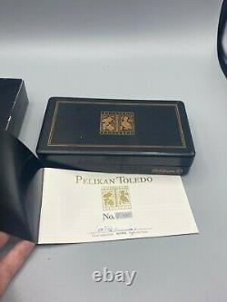 1980 Pelikan Toledo M700 Fountain Pen Allemagne De L'ouest Near Mint Boxed Nib Med 18c