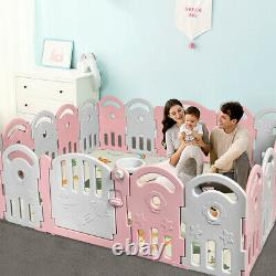 20-panel Baby Playpen Kids Activity Center Accueil Avecmusic Box & Basketball Hoop