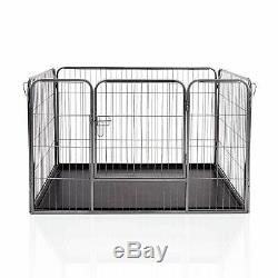 4pc Heavy Duty Puppy Dog Jouer Pen Crate Box Whelping Lapin Enceinte Chien Cage