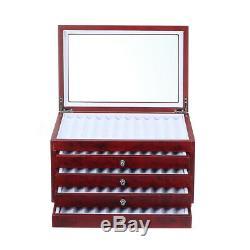 56 Pen Display Fontaine Boîte De Rangement En Bois Organisateur Collection Plateau Case Holder