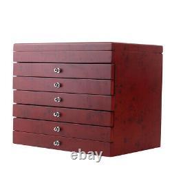 6 Couche 78 Stylo Wood Box Display Stockage Bois Grande Plume Pen Case Sale! Nous