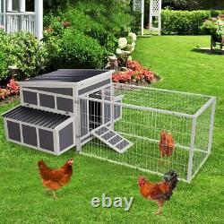88 Poulet Coop En Bois Cage Hen House Pet Hutch Pour Petit Animal Avec Boîte De Nidification