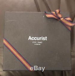 Accurist Mens Avec Diamants Dial Bracelet Watch & Pen Set Mb1121 Nouveau Avec Boîte-cadeau