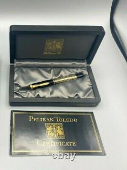 Années 1980 Pelikan Toledo M700 Fountain Pen Allemagne De L'ouest Près De Mint Boxed 18c Med Plume