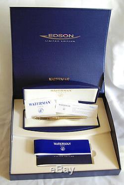 Argent Waterman Edson Sterling Limited Edition Fountain Pen X Pt Fine Neuf Dans La Boîte