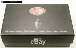 Aurora 88 800 Big Fountain Pen En Noir-or Avec 14 K B-plume / Boîte Originale