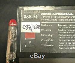 Aurora 88 Minerali Limited Edition Numérotée Nib Cinabre F Neuf Dans La Boîte