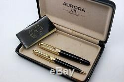 Aurora 88 Ottantotto Set- 801/831-fontaine Pen-piston-14k Nib + Bille-box