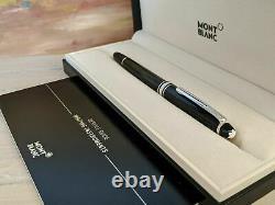 Authentique Montblanc Pen Platinum Version Rollerball Pen Nouveau Dans Boite Et Papiers