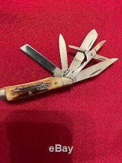 Belle Case XX Rouge Stag 5 Lame 5520 Couteau D'arachide 1998, New Rare. Pas De Boîte Ou Pap