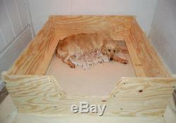 Boite De Mise-bas Heavy Duty Withfloor, Xl, Xlarge 5'x4 'withrails + Liner Chien, Chiot, Stylo