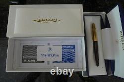 Brand New Waterman Edson Ruby Red Moyenne Nib Fountain Pen Dans La Boîte Originale