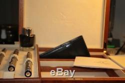 Breguet Pen Set Fountain Pen, Rollerball, Boîte À Bille Avec Le Mouvement Rare