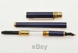 Cartier 3 Must Lapis Fontaine Laque Anneaux Bleu Stylo Nouveau Vieux Stock Dans La Boîte