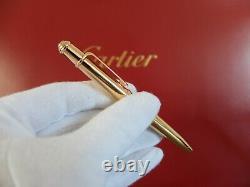 Cartier Diabolo Mini Rose Or Stylo À Bille Très Rare Compl. W. Box / Garantie