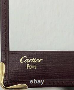 Cartier Véritables Feuilles De Notes En Cuir Et Porte-billets New Old Stock Dans La Boîte