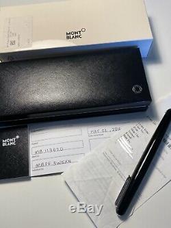 Comme Nouveau Montblanc M Marc Newson En Résine Noire Stylo À Bille Mb113620 Papers Box