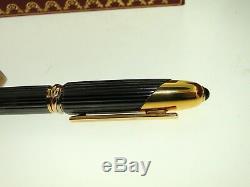 De Cartier 1992 Must Cougar Cabochon Plume D'or With18k Nib Box & Papiers