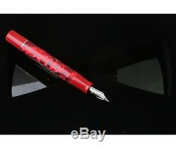Delta Dolcevita Federco Red Passion Fountain Pen Med En Or 18 Kt Pt Neuf Dans La Boîte