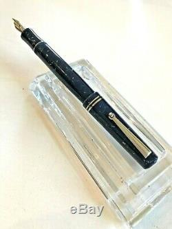 Delta Europa Collection Fountain Pen Gras Plume En Or 18 Kt Avec Box Near Mint