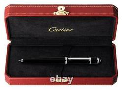Diabolo De Cartier Ballpoint Stylo St180010 Avec Boîte Black New