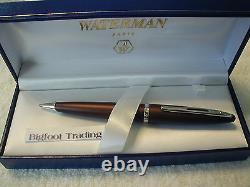 Eauman Carene Leather Brown Ballpoint Pen Gift Boxed Collectable N'est Plus Fabriqué
