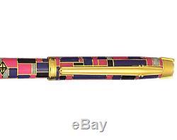 Elysee Limited Edition Laque Intarsia Fountain Pen 18k X Fine Pt Neuf Dans La Boîte