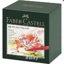 Faber-castell Pitt Artiste Pen Pinceau Studio Box 60 Couleurs Professional 167160