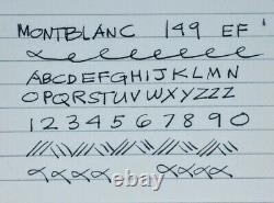Fin Des Années 80 Montblanc 149, 14k Two Tone Plume, Dans La Boîte Avec Carte Garantie Originale