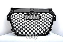 Front Grill Look Rs1 Noir Pour Audi A1 8x 2010-14 Honeycomb Grill Bumper Of